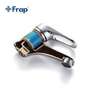 Image 5 - FRAP mini Stylish elegant Bathroom Basin Faucet Brass Vessel Sink Water Tap Mixer Chrome Finish  F1013  F1036