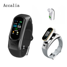 Accalia H109 bluetooth headset smart bracelet content push reminder heartrate blood pressure monitoring waterproof smart band все цены