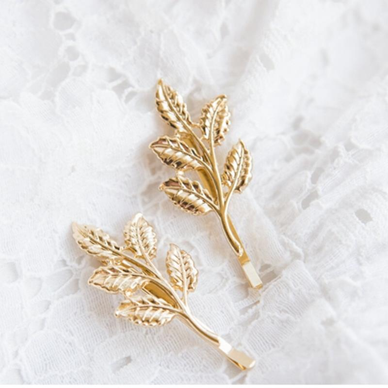 Olive Branches Leaves Women Beautiful Bride Hairpin Side Folder hair Accessories Hair Styling Tools
