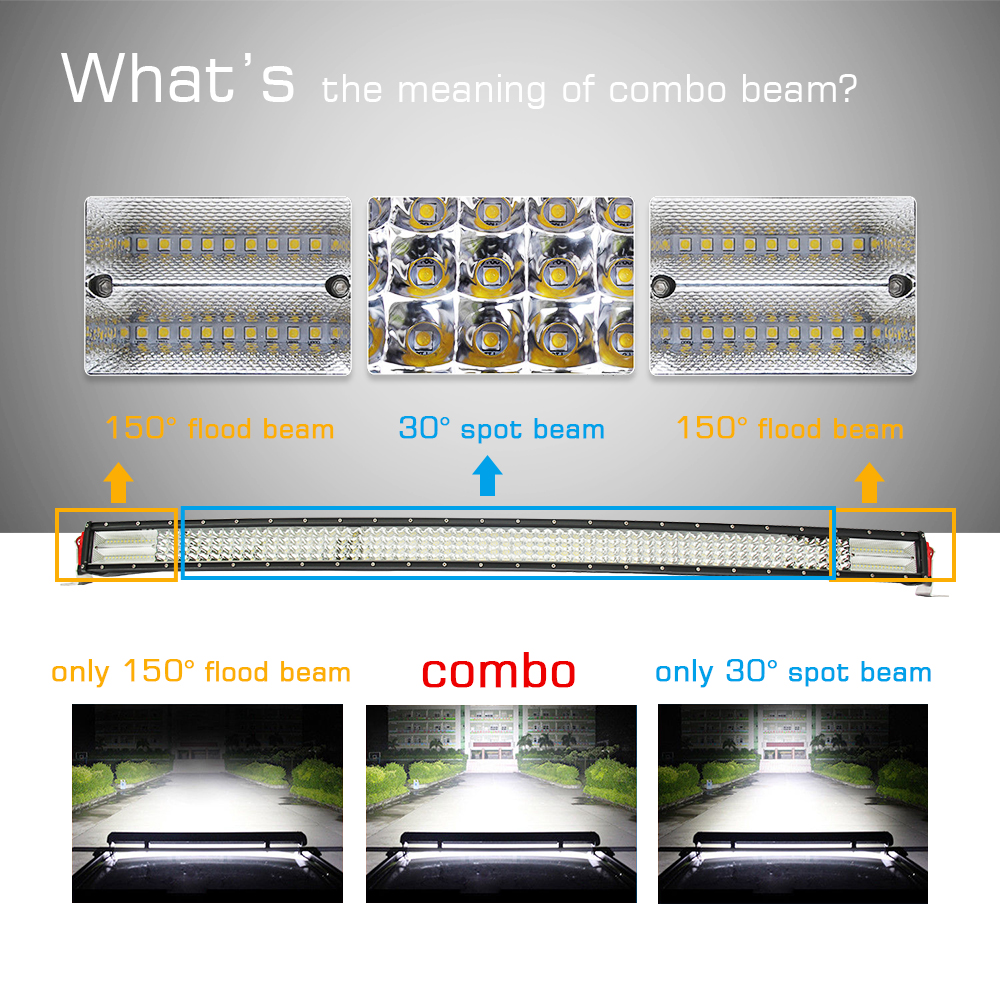 CO LIGHT LED Bar 8D 50 quot 888W LED Work Light 12V 4 Rows Spot Flood Combo for SUV 4X4 ATV Boat Jeep Offroad Auto Driving Bar Light in Light Bar Work Light from Automobiles amp Motorcycles