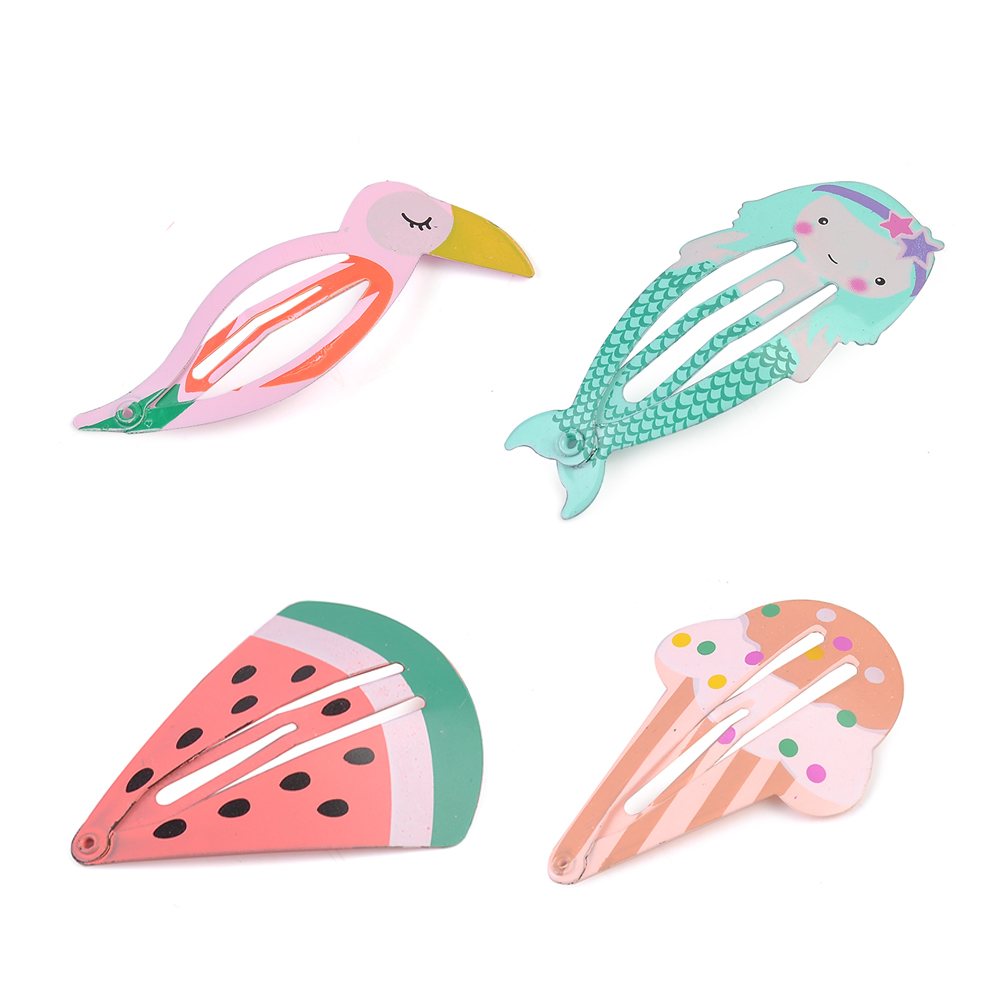 Korean jewelry decoration 2Pcs cartoon fruit BB clip Cute Baby Girls Kids Children Hair Accessories Slides Snap Hair Clips Gift