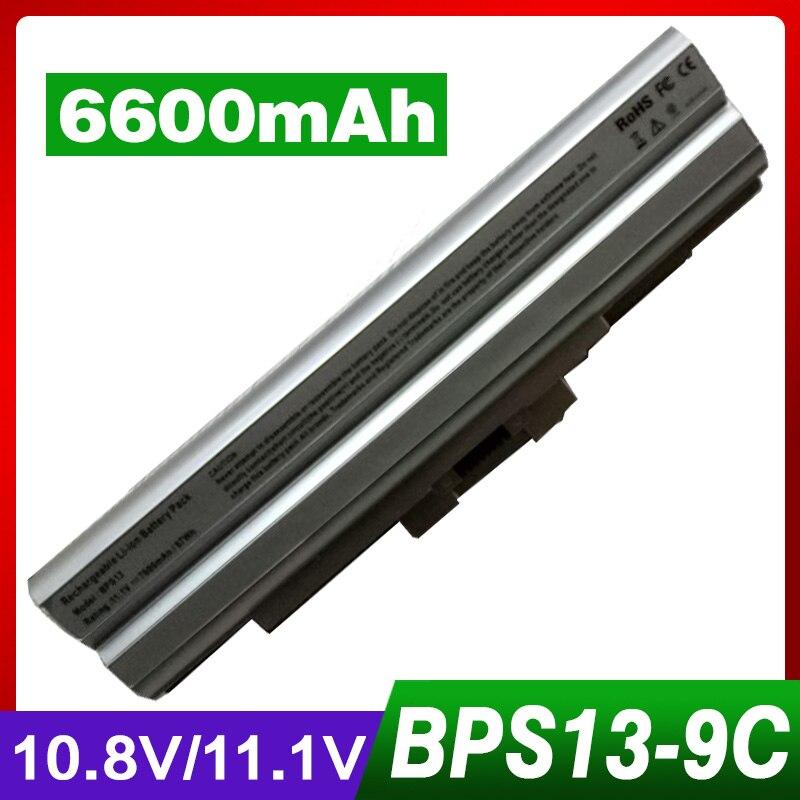 ApexWay 6600mAh Silver Battery 11.1V for BPS13 BPS21 VGP-BPL13 VGP-BPL21 for PCG VAIO SVE Series VPC-M VPC-F