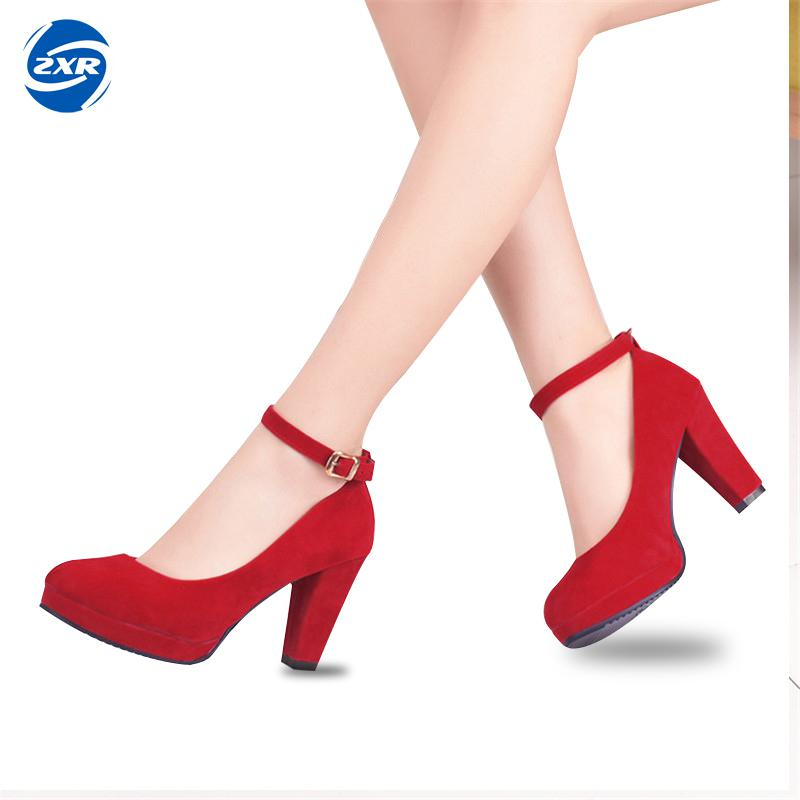 High Heels Women Shoes Fashion Platform Round Toe Shoes Zapatos Mujer Shallow Mouth Sexy Pumps High Heel Shoes Woman apoepo brand 2017 zapatos mujer black and red shoes women peep toe pumps sexy high heels shoes women s platform pumps size 43