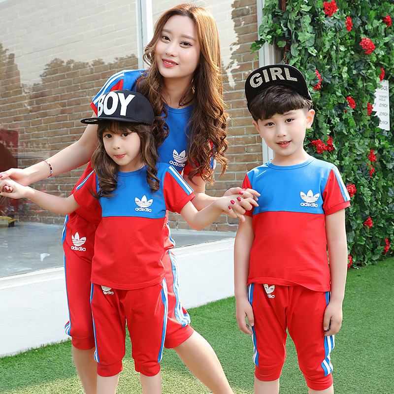 Kindergarten Summer Clothing 2016 New Sport Suit Cotton Children Uniforms Class Service Teacher Students