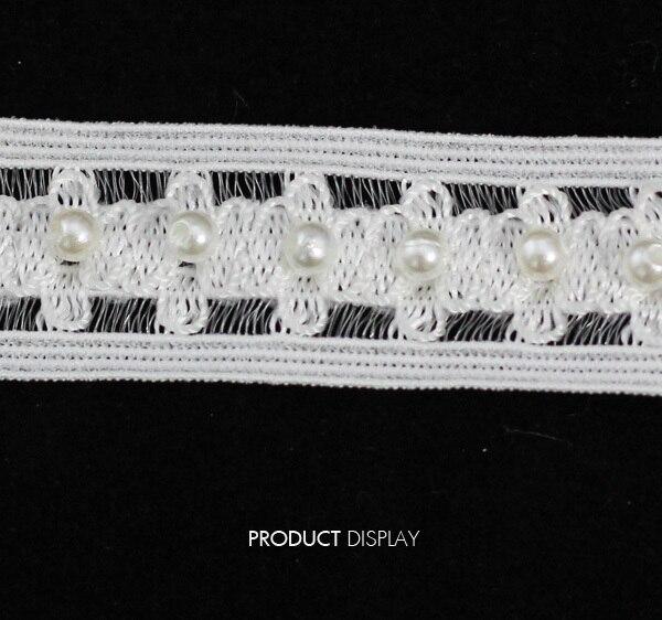 b502d9beea Zroszony elastic stretch rhinestone urządzone venise koronki wstążki  aplikacja wykończenia szycia ogrodnicze 0.79 cale dla odzieży 10yd t727