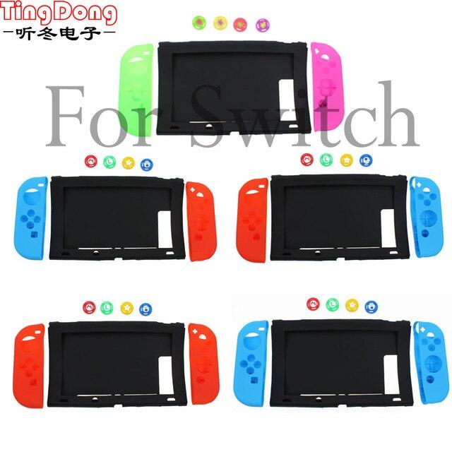 TingDong dla konsoli Nintendo przełącznik przypadku NS miękkie silikonowe pokrywa ochronna skóry dla Nintendo przełącznik konsoli i Joy con
