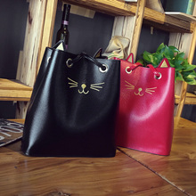 2018 Sailor Moon Bucket bag Samantha Luna Style Cat Ladies Hand Bags Kitty Cat Bag Women Messenger Crossbody Tote Bag