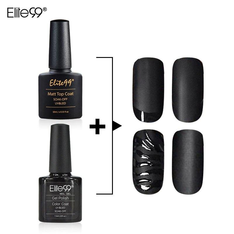 Matte Black Gel Nail Polish: Elite99 10ml Matt Matte Top Coat Nail Gel Polish And 7.3ml