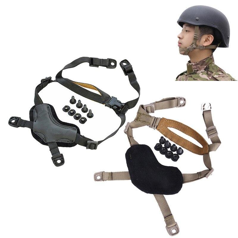 TBFMA Helm Allgemeine Aussetzung X-Nacken TB956 Verstellbaren Riemen Helm Zubehör für Tactical Jagd Schießen Klettern #