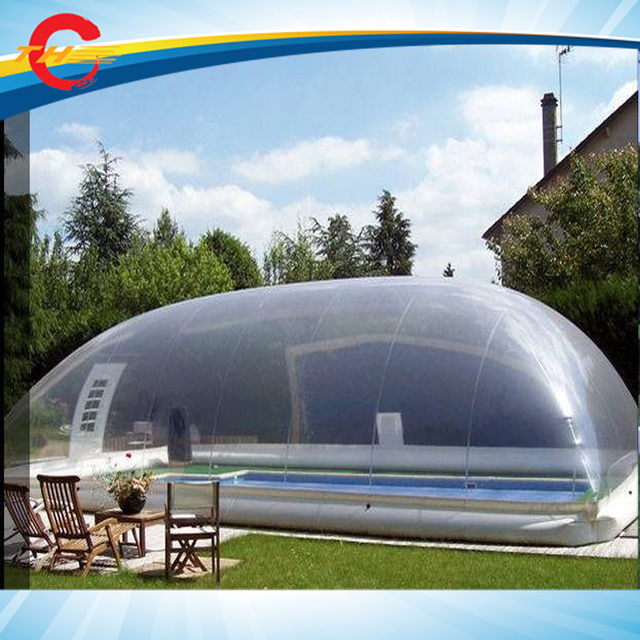 397619373e6 free air shipping to door!giant outdoor clear transparent inflatable pool  cover