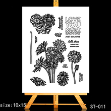 ZhuoAng Sun flower Clear Stamps/Card Making Holiday decorations For  scrapbooking Transparent stamps
