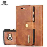 DG Ming Luxury Genuine Leather Magnetic 2 In 1 Detachable Wallet Case For Samsung A3 A5