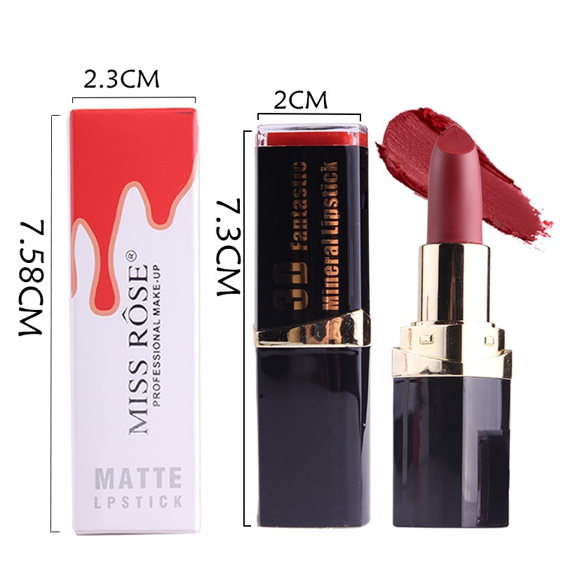 Red Velvet Nude Long-lasting Tattoo Matte True Brown Color Waterproof Pencil Lipstick R8