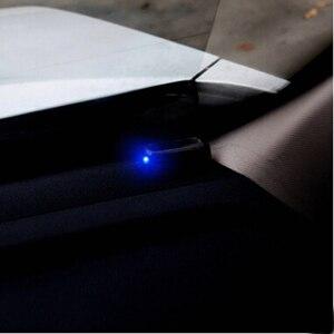 Image 5 - 1 個ソーラーパワーカーアラームランプセキュリティシステム警告盗難フラッシュトヨタカローラカムchr RAV4 アベンシスyaris auris