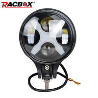 1pcs 6 Inch 60W LED Chips Fog Driving Day Light Spotlight 12V Headlight For Jeep 4x4 4WD ATV SUV MPV Offroad With X Angle Eyes