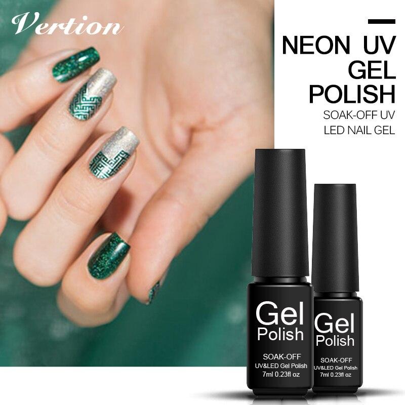 Verntion 3d Gel Neon Nail Gel Polish Long Lasting Semi Permanent ...