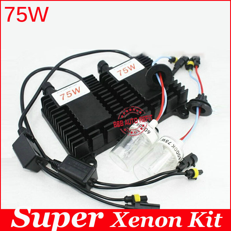 Guarantee 2 year,75W hid xenon kit H1 H3 H7 H8 H11 9005 9006 hb3 bh4 4300k 6000k 8000k for car headlight two AC ballast quality guarantee for one year balluff proximity switch bes m18mg usc70b bv03
