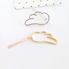 Fashion 1Pcs Women Girls Gold/silver Plated Metal Cloud Hair Clips Metal Hairpins Holder Hair Accessories Hair Barrette fashion hairpins accessories plated clips hair pin ponytail
