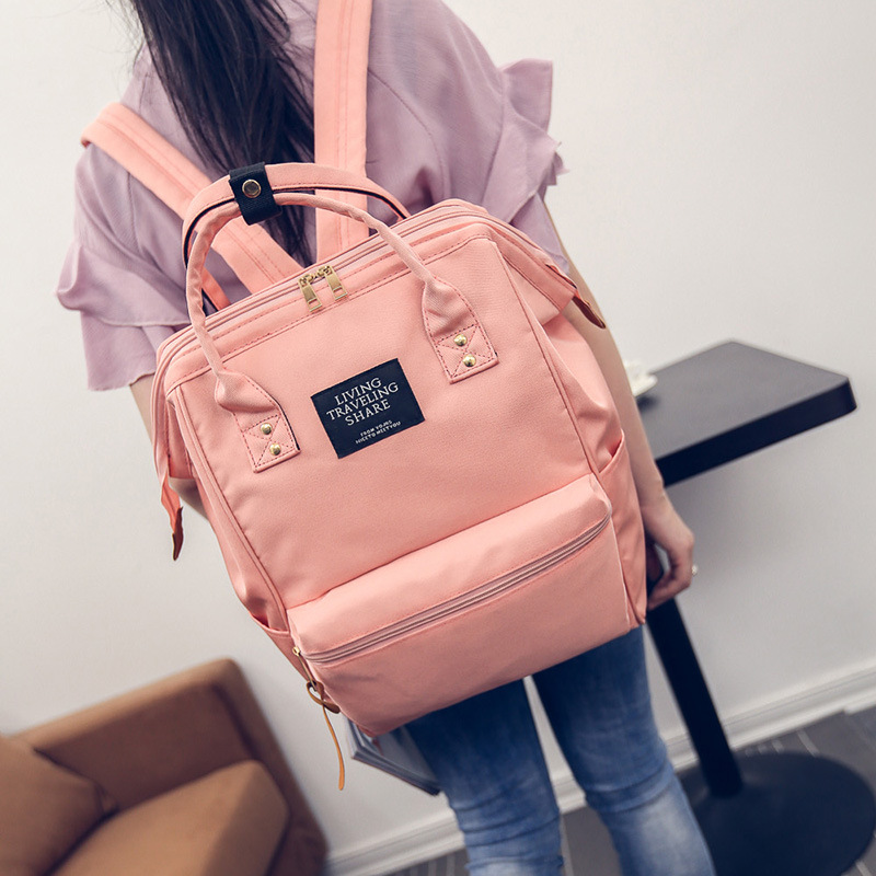 2017 New Famous Brand Backpack Women Backpacks Solid Vintage Girls School Bags for Gorls Black Women