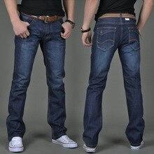 Pantalones vaqueros de los hombres rectos Delgados otoño hombres pantalones casuales juveniles otoño e invierno de los hombres pantalones vaqueros largos