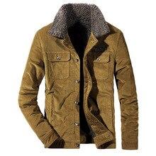 ZHAN DI JI пу бренд для мужчин плюс размеры 4XL вельвет утолщаются зимние куртки