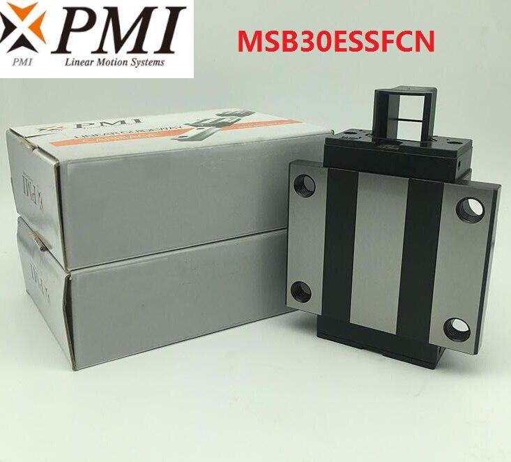 4pcs/lot Original Taiwan PMI MSB30E-N MSB30ESSFCN linear guideway sliding block Carriage for CO2 laser machine MSB30E