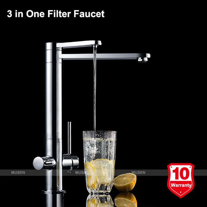 hot and cold water filter faucet. Aliexpress com  Buy High Quality 3 in 1 Design Filtered Water Hot Cold Chrome Filter Faucet Way Tap Mixer from Reliable filter