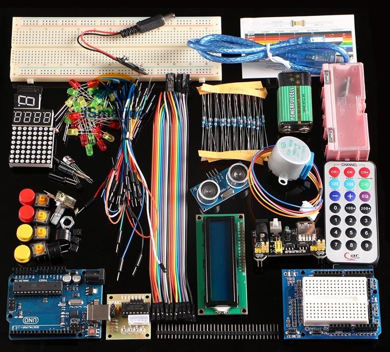 Ismaring nova versão oficial do projeto breadboard diy eletrônico starter kit para arduino uno r3 kit learing