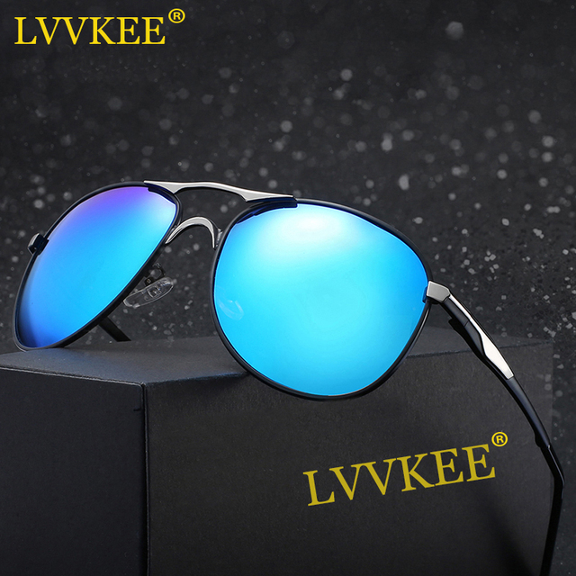 ffada1ae17c LVVKEE 2018 Fashion Men Women Polarized Sunglasses UV400 Protection from  Strong Sunlight Polarize Alloy Pilot Sunwear With Box