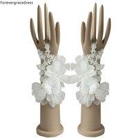Apartament Dla Nowożeńców Rękawice Fingerless Forevergracedress Biały Ivory W Magazynie Dla Panny Młodej Tanie Akcesoria Weselna ST14-1