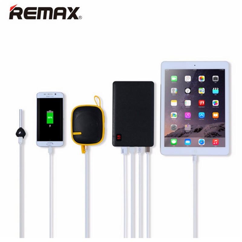 Цена за REMAX мобильный Мощность Bank 30000 мАч высокой емкости 4 USB Портативный Зарядное устройство Внешний Батарея универ S Аль резервного Power s для iphone 6S 7