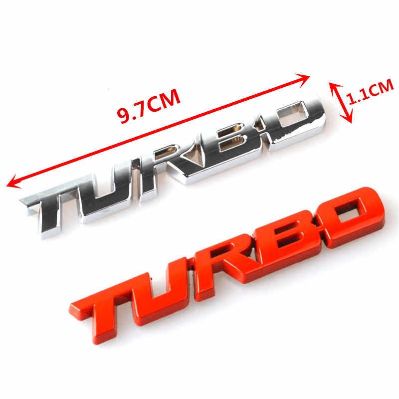 3D 金属ターボエンブレムカースタイリングステッカーボディリアテールゲートフォードフォーカス 2 3 ST RS フィエスタモンデオ tuga Ecosport 融合