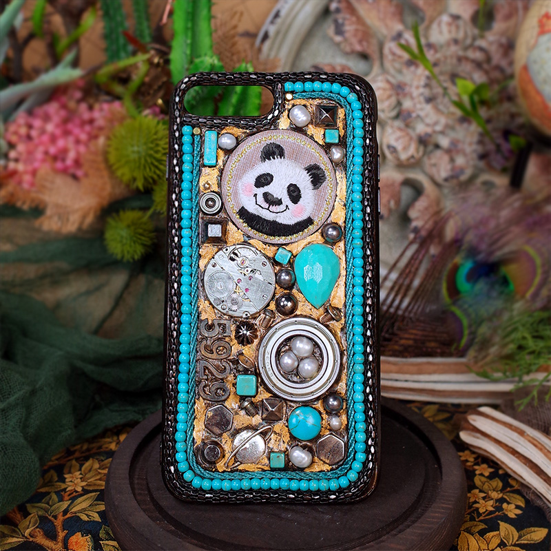 For Iphone 7 Case Patterned Animal Panda Rabbit Metallic Mechanical Style Punk 5.5 Inches Limited Edition for Iphone X Case
