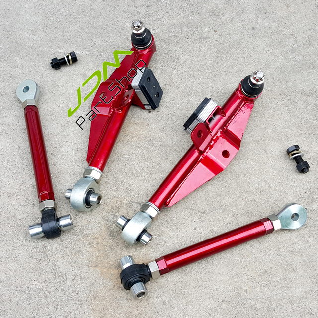 US $145 0 |Version 2 Front Lower Control Arm+ High Angle Tension Rod For 89  94 240SX S13 180SX/200SX 300ZX R32/R33-in Shock Absorber& Struts from