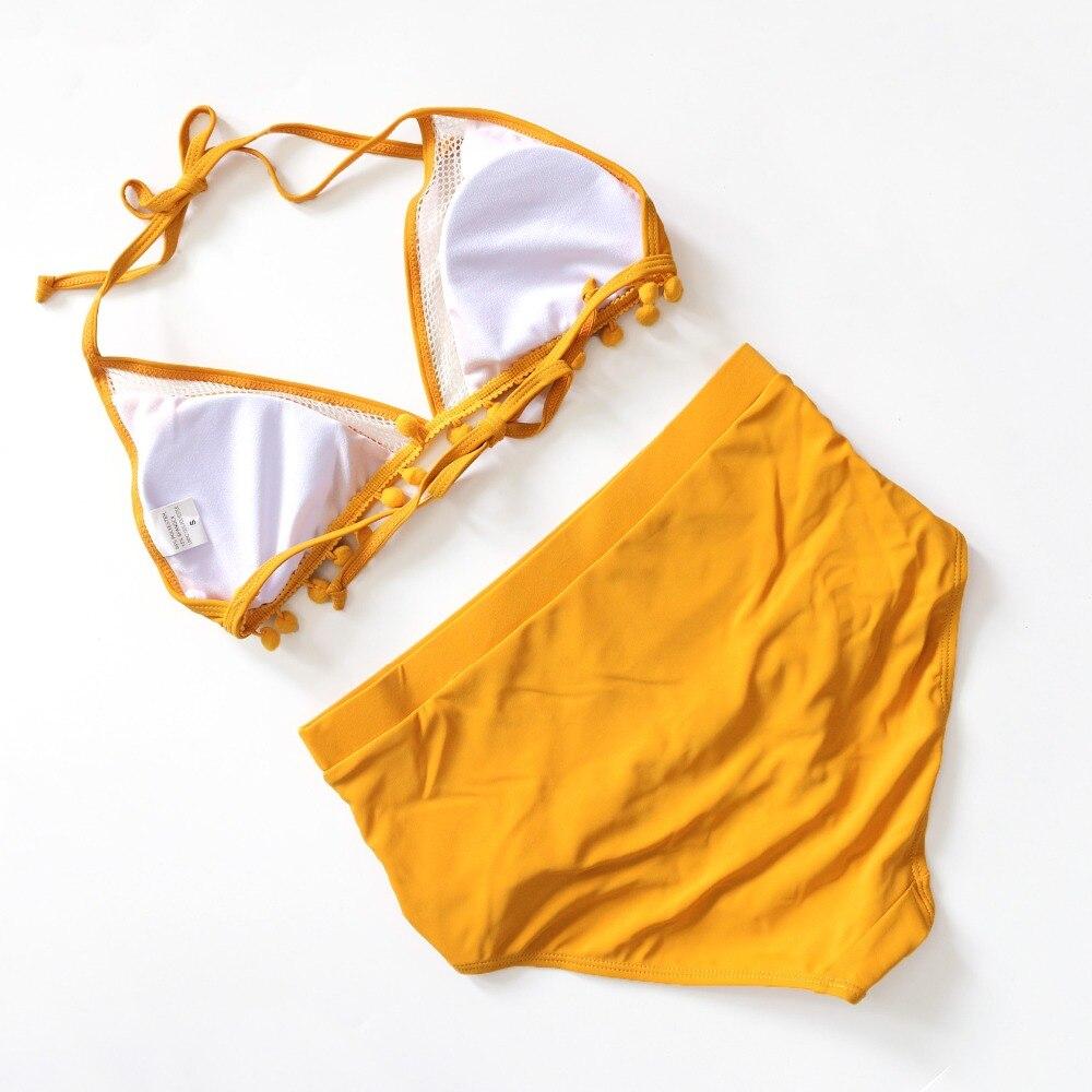 HTB1X85LQQvoK1RjSZFwq6AiCFXaw 2019 Sexy Halter Retro Mesh Hollow Out String Biquini Bathing Suit Female Swimsuit High Waist Plus Size Swimwear Women Bikini