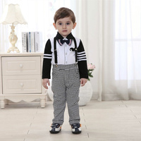 Boutique Kids Overalls Clothing Baby Names For Boys Clothes Set 4t Gentleman Imported Clothing Turn Down
