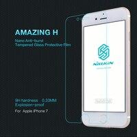 아이폰 7 강화 유리 NILLKIN 놀라운 H 안티 폭발 유리 스크린 필름 애플 iPhone7 + 소매 패키지