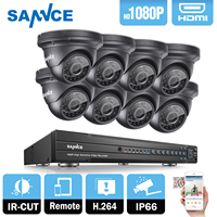 SANNCE 8CH 1080P HD H 264 DVR 8 Outdoor IR Surveillance Security Camera System