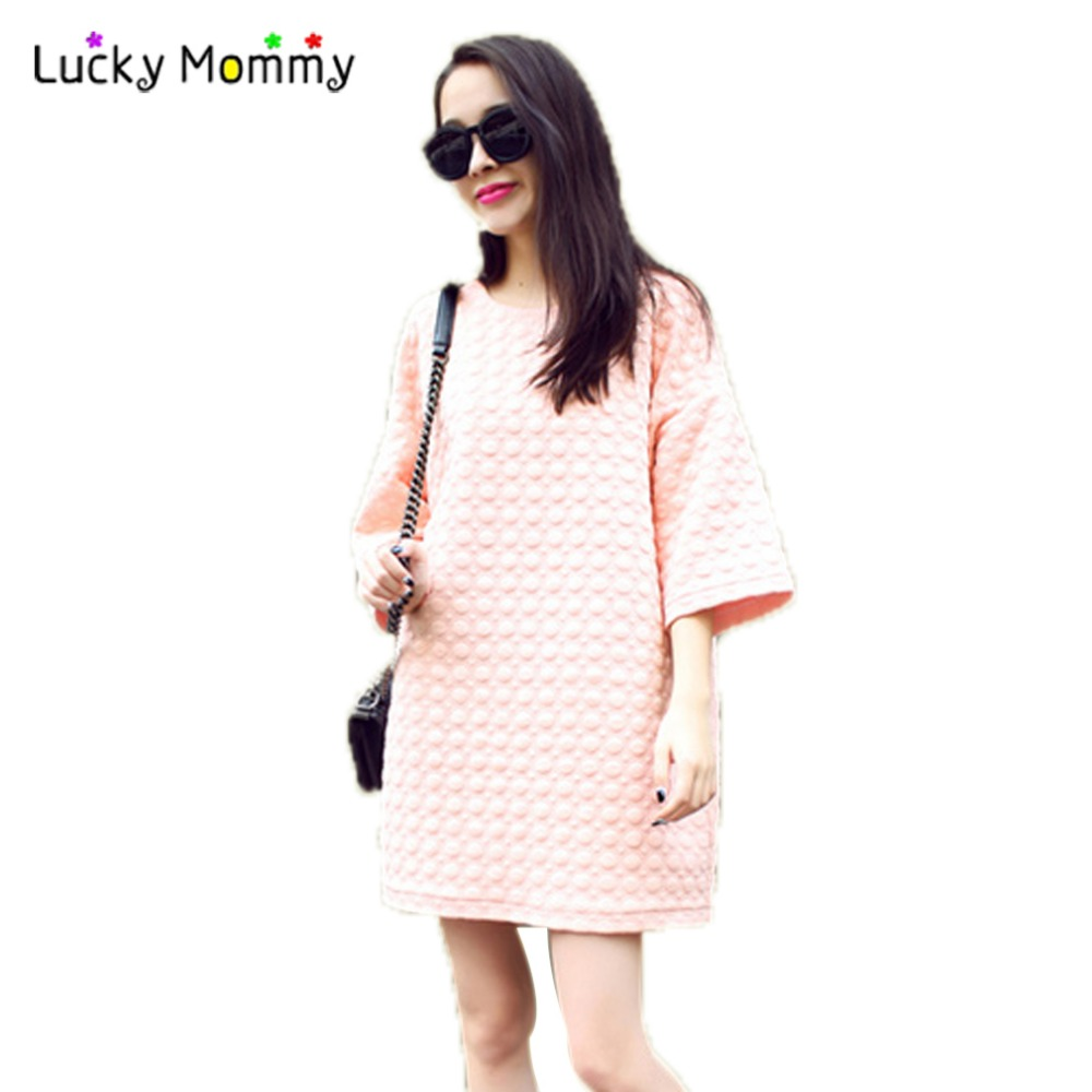 Online get cheap bow pink maternity dress aliexpress korean fashion maternity dresses cute pink maternity dress pregnancy dress plus size maternity clothes ropa ombrellifo Gallery