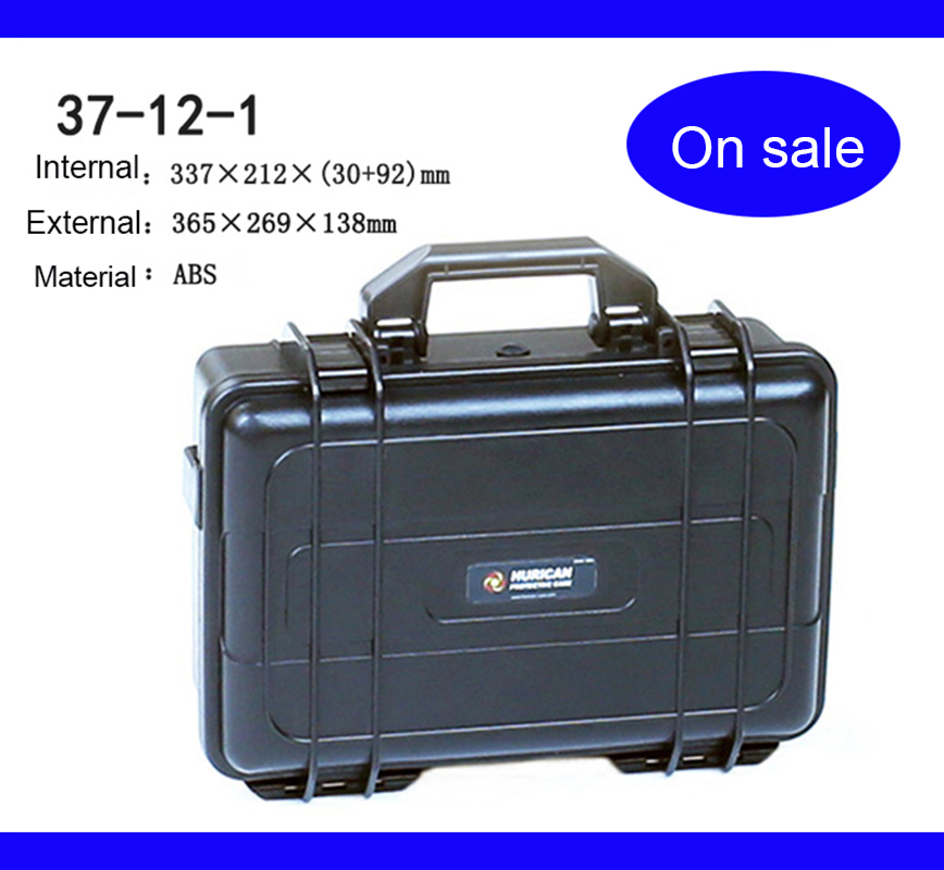 365x269x138mm ABS Tool Case Toolbox Impact Resistant Sealed Waterproof Safety Case Equipment Camera Case With Pre-cut Foam