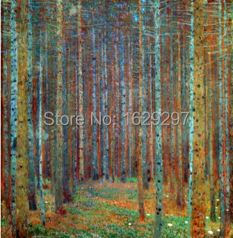Gustav klimt paintings landscapes arts trees tannenwald for Gustav klimt original paintings for sale