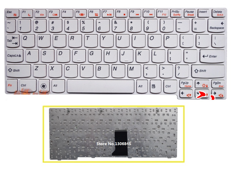 SSEA New US Keyboard For Lenovo U160 U165 S200 S205 Laptop White Keyboard