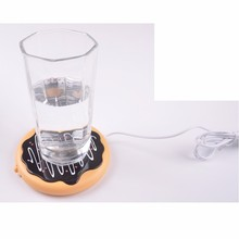Free shipping, USB heat coaster, portable home office cup insulation pad