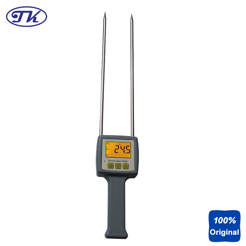 Digital Grain Moisture Tester Meter Barley,Corn,Rapeseed,Wheat 25 kinds TK25G mc 7806 digital moisture analyzer price with pin type cotton paper building tobacco moisture meter