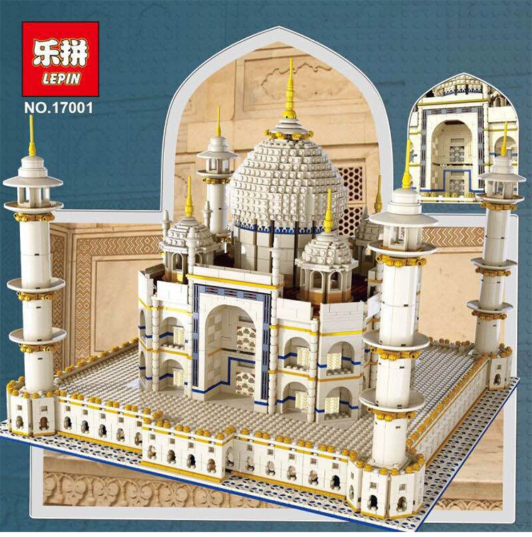 New LEPIN 17001 5952pcs The Tai Mahal Model Building Kits Brick Funny Toys Compatible 10189 Gift lepin17001 city street tai mahal model building blocks kids brick toys children christmas gift compatible 10189 educational toys