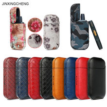 Jinxingcheng caso capa para iqos 2.4 plus para iqos caso de couro do plutônio bolsa saco de proteção titular