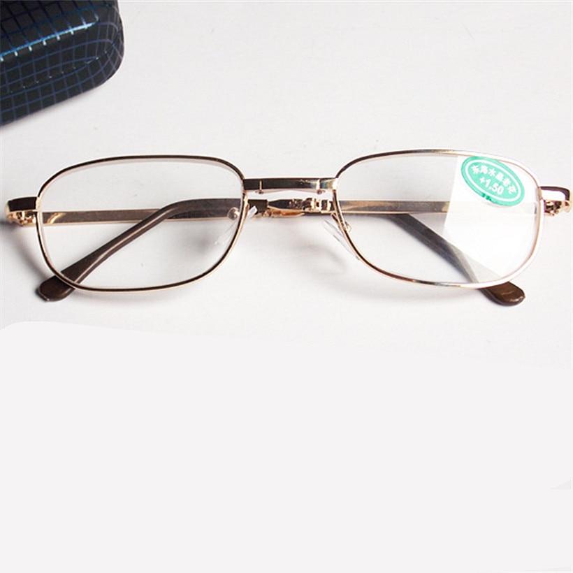 stylish glass frames eymn  Folding Copper Frame Reading Glasses Foldable Women Men High-grade Glass  Crystal Stylish Reading Glasses Male Female Eyewear