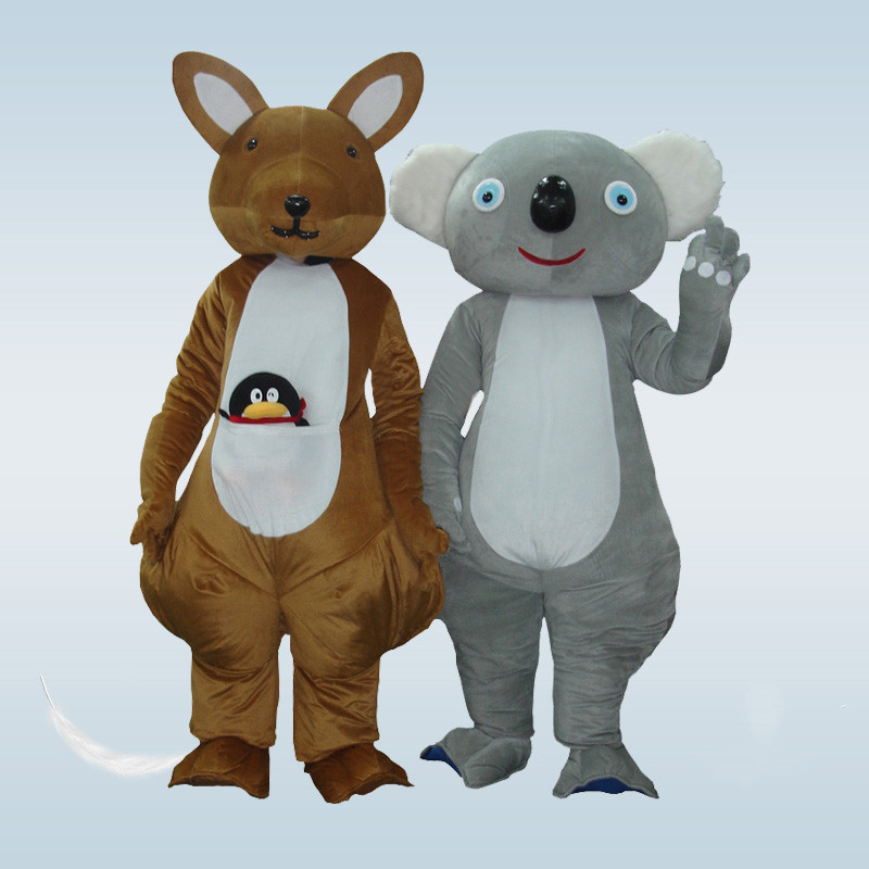 Offre spéciale 2019 adulte belle Koala kangourou mascotte Costume personnalisé mascotte déguisements Costumes Costume Animal Costumes de fête