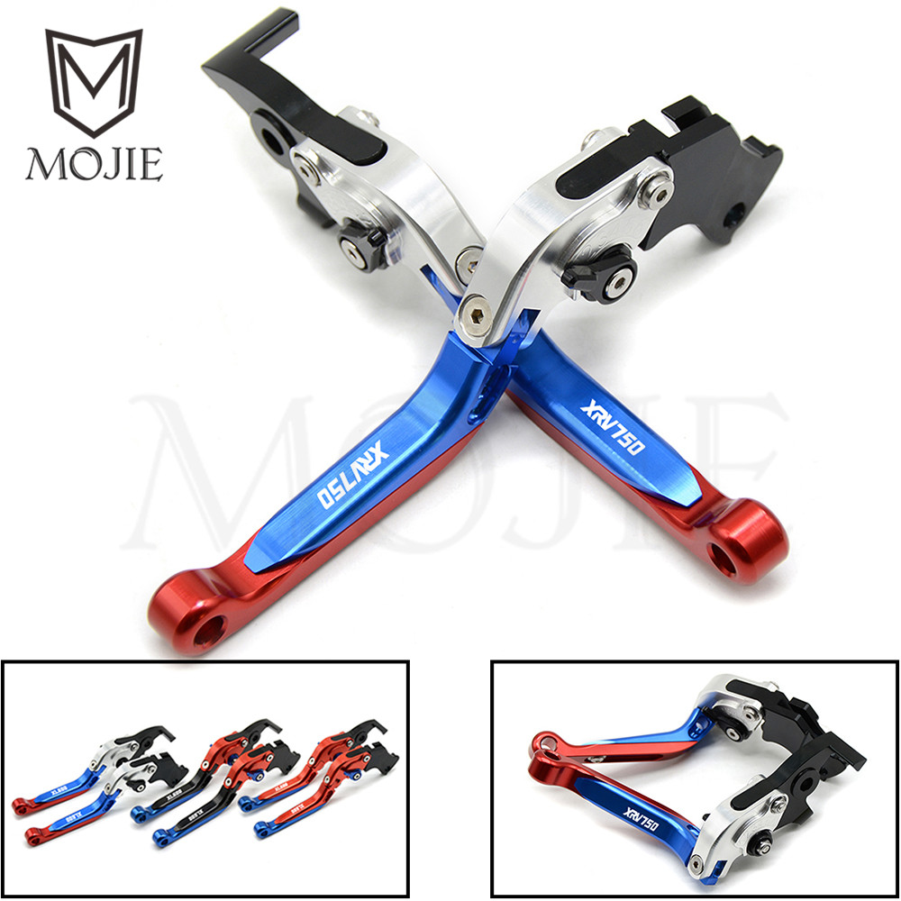 For Honda XRV750 L-Y Africa Twin 1990-2003 1991 1992 Motorcycle Adjustable Folding Extendable Brake Clutch Levers Set XRV 750 for honda crf1000l africa twin 2015 2018 foldable extendable clutch brake levers folding extending cnc 2016 2017 adjustable
