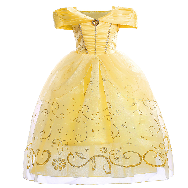 Fashion Belle Dress for Kids Costume Rapunzel Party Wedding Dress Costume Kids Girls Princess Belle Aurora Performance Vestido сумка belle bicx2893 2014 x2893